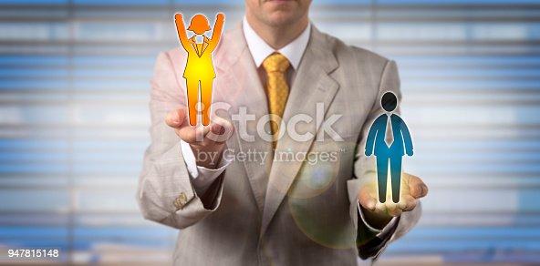 513121118istockphoto Entrepreneur Elevating Cheering Female Employee 947815148