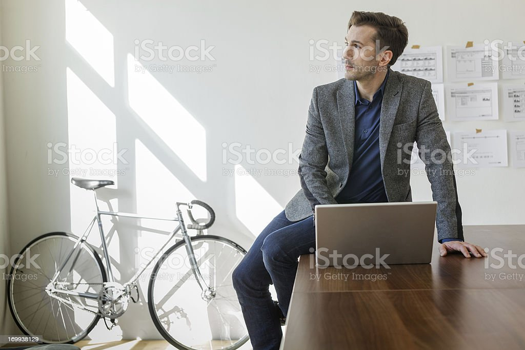 Entrepreneur Planning his new business stock photo