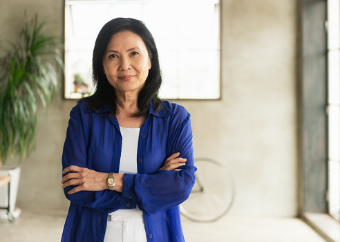 Portrait of a female entrepreneur.