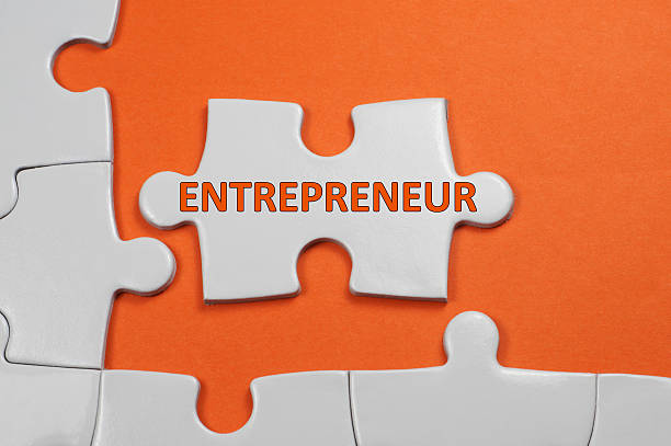 Entrepreneur Text - Business Concept stock photo