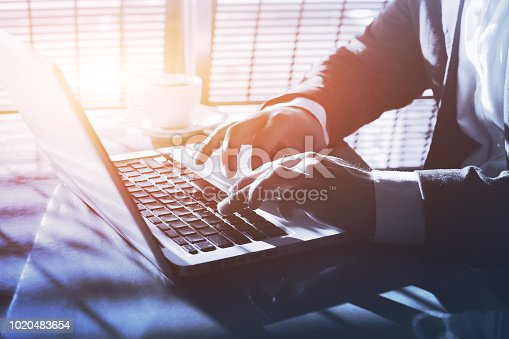 879813798 istock photo entrepreneur working online, internet banking 1020483654