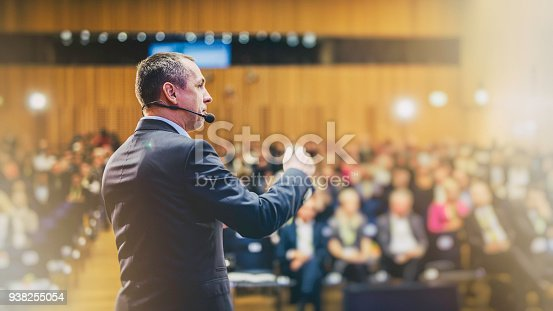 938409136 istock photo Entrepreneurial speech at a conference 938255054