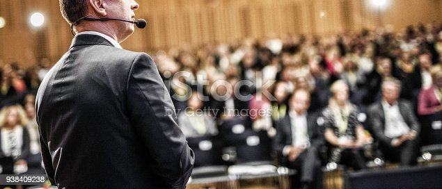 istock Entrepreneurial speech at a conference 938409238