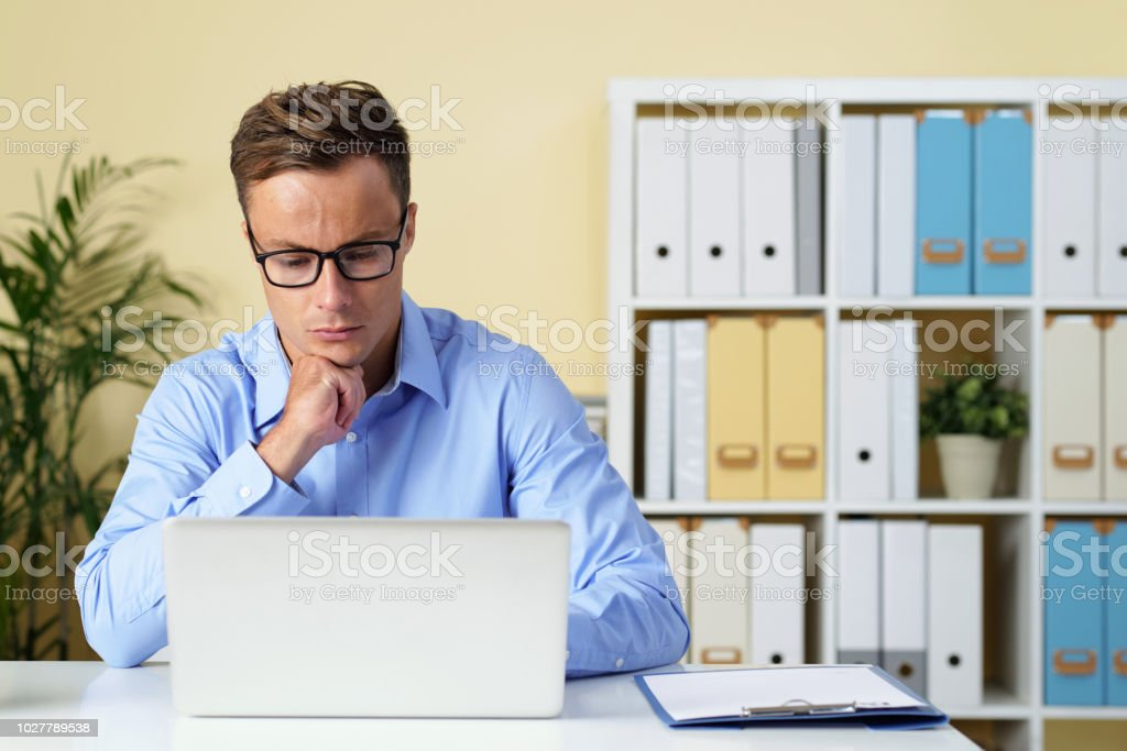 Entreprneur checking e-mails royalty-free stock photo