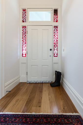 Entry Foyer In A Renovated Victorian Home Stock Photo - Download Image Now