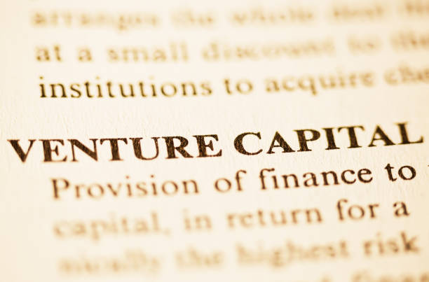 Entry in a business dictionary defining the term VENTURE CAPITAL stock photo