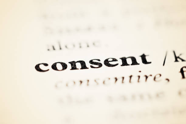 entry in dictionary or encyclopedia: consent - permit stock photos and pictures