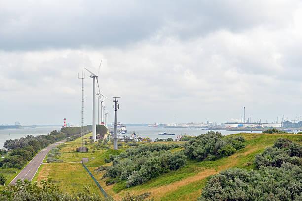 Entrata nel porto di rotterdam, Paesi Bassi - foto stock