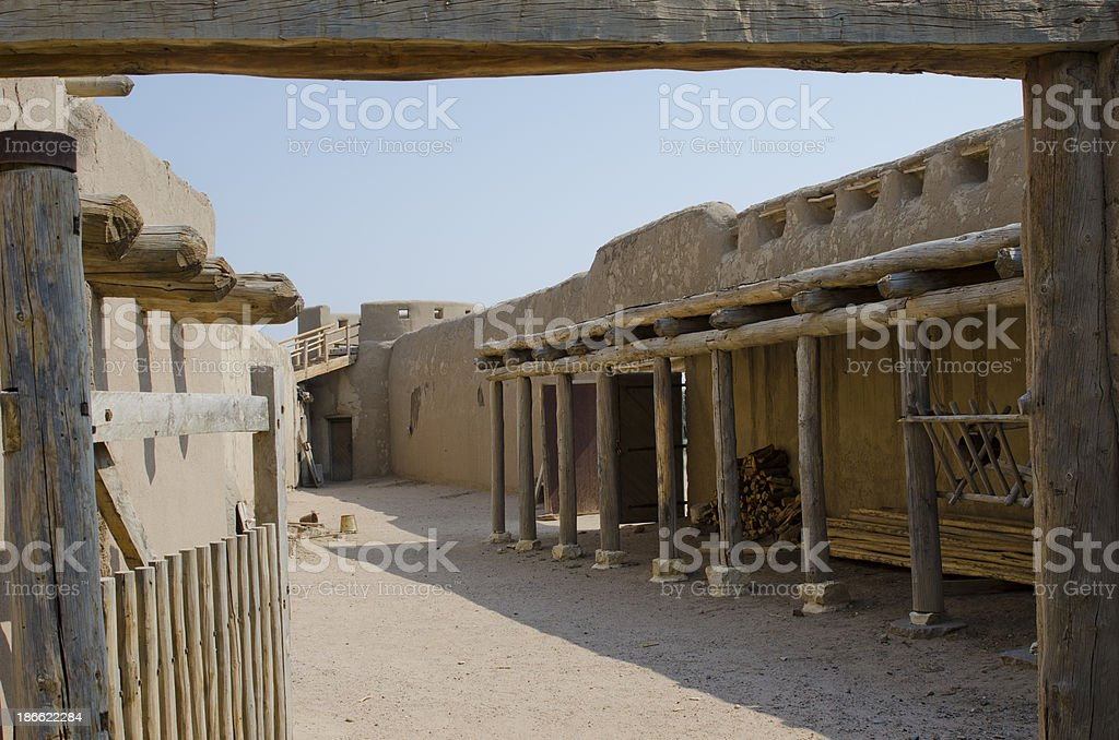 Entry into Courtyard at Bent's Old Fort royalty-free stock photo