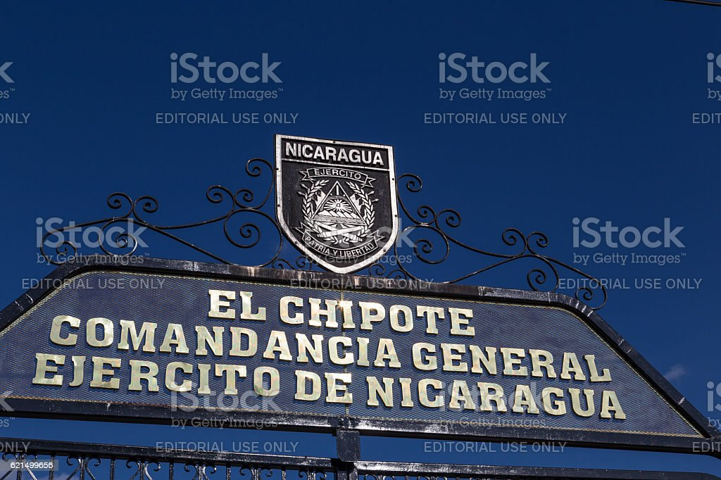 entry of army commander called El Chipote in Managua, Nicaragua. foto stock royalty-free