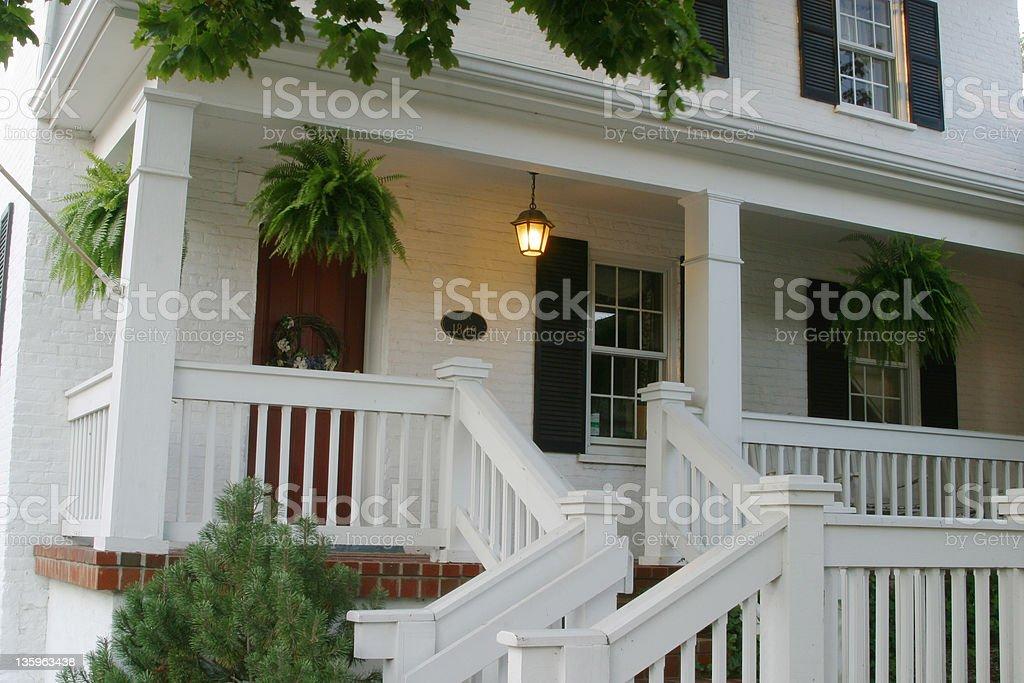 Entry Porch 2 stock photo