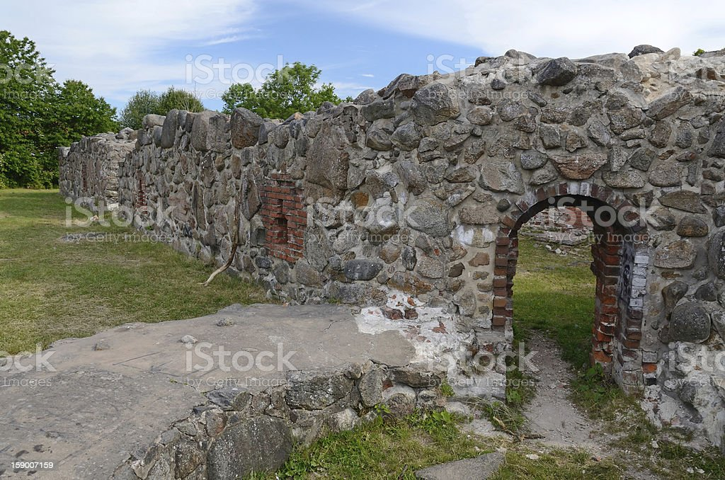Entry to castle ruins royalty-free stock photo