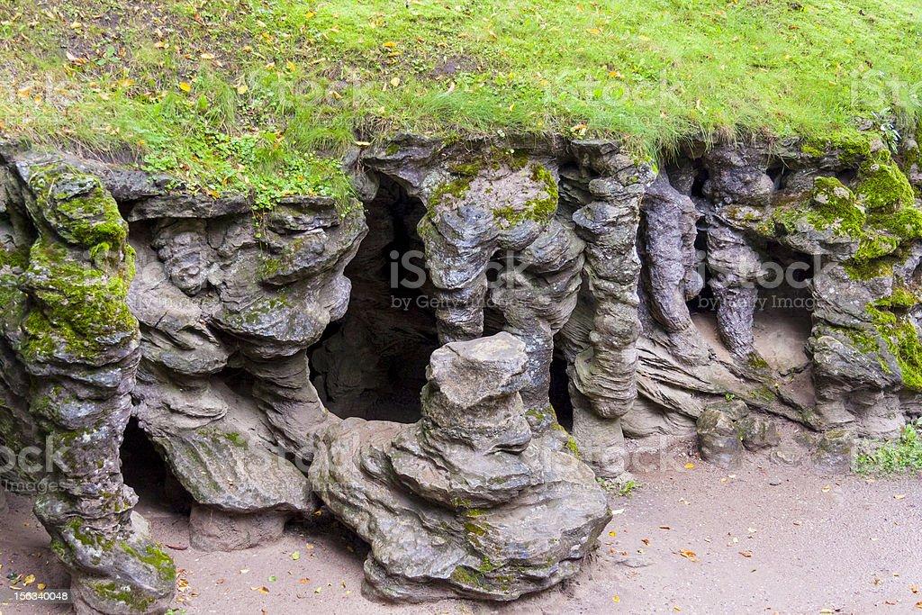 Entry To Mechowo Cave Poland stock photo   iStock