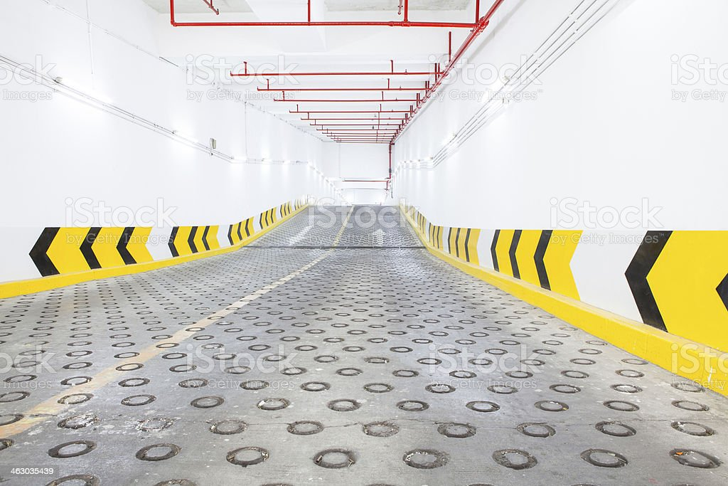 Entry underground parking royalty-free stock photo