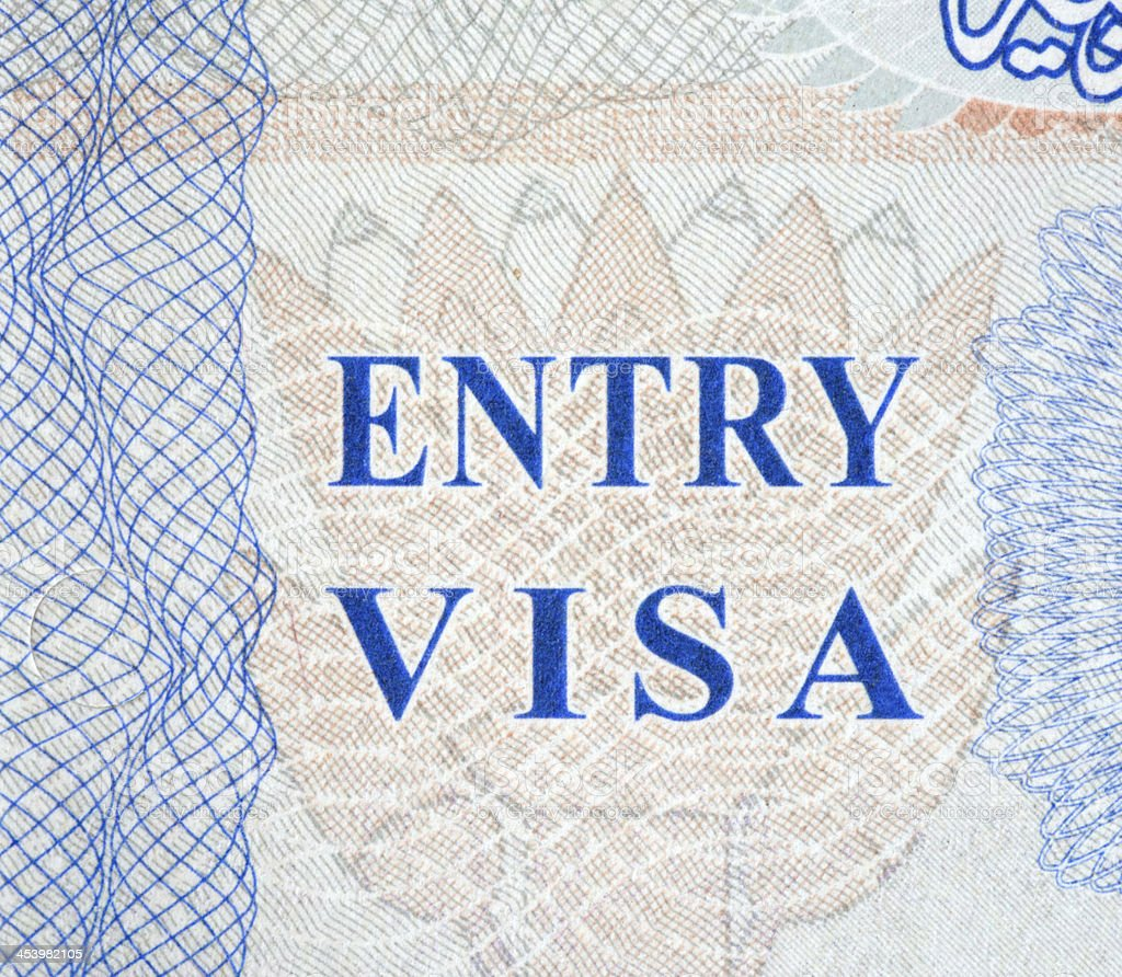 Entry Visa royalty-free stock photo