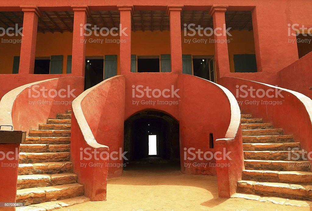 Entry-House of slaves-Goree stock photo