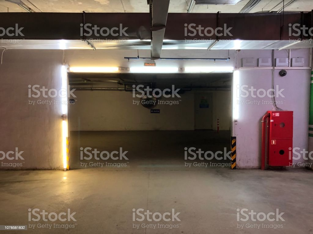 Entry,Parking,Firefighters,Light,Garage Entry,Parking,Firefighters,Light,Garage Accidents and Disasters Stock Photo