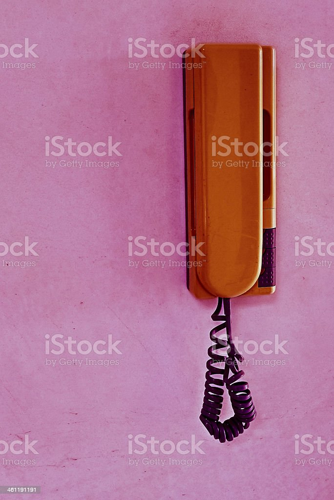 Entryphone on wall of home. royalty-free stock photo