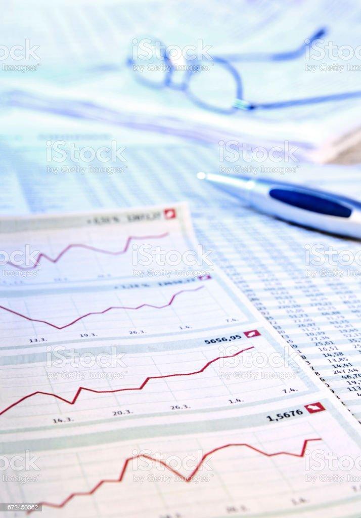 Entwicklung an der Börse stock photo