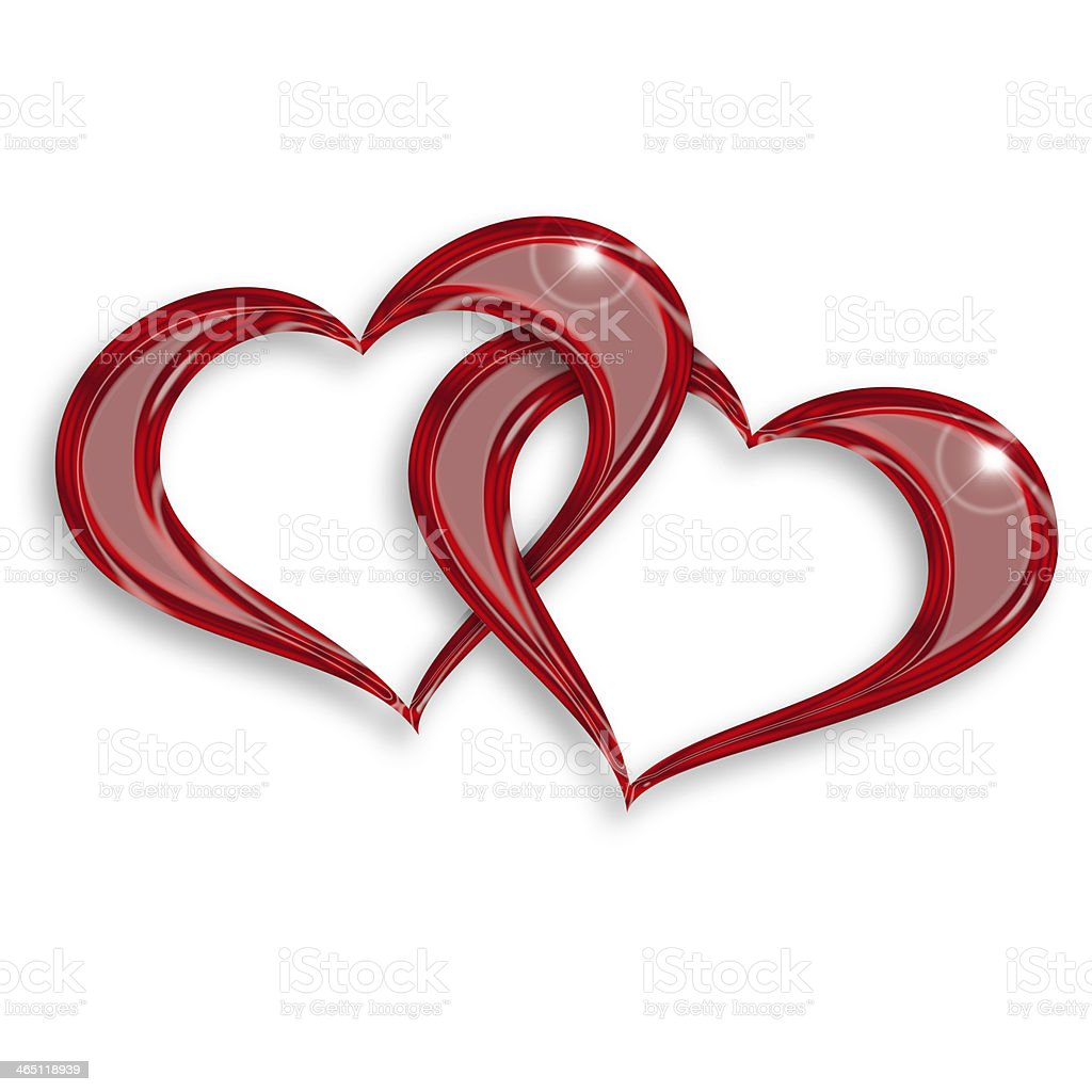entwined hearts stock photo