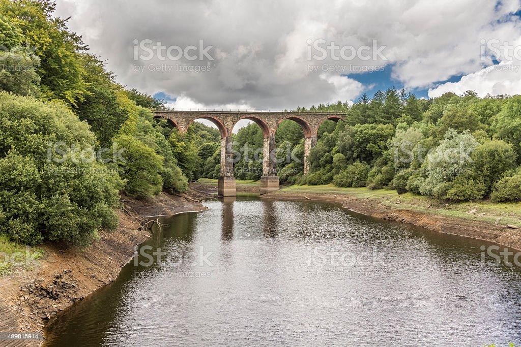 Entwistle Viaduct Train Bridge In Lancashire. stock photo
