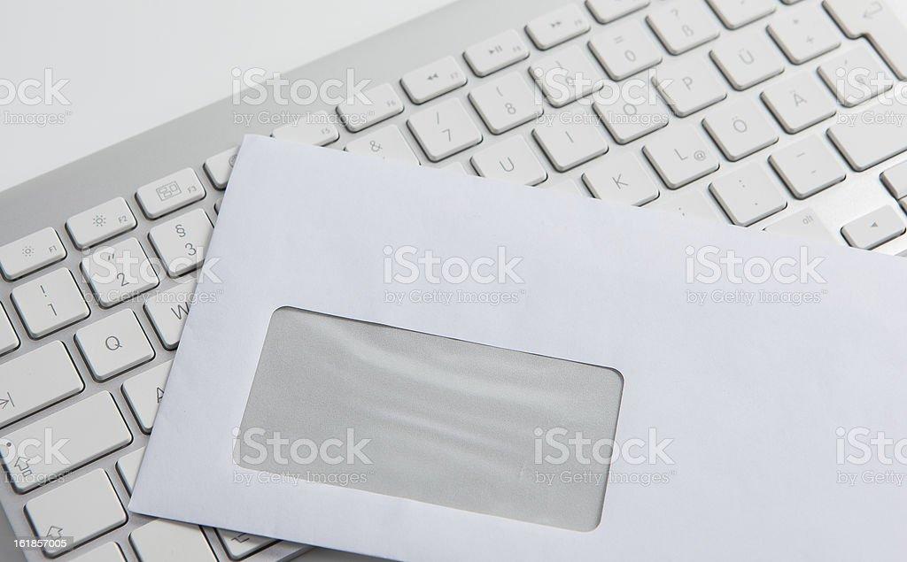 Envelope and keyboard stock photo