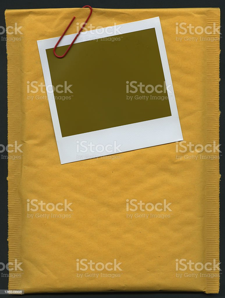 Envelope and photo frame (XXXL) royalty-free stock photo
