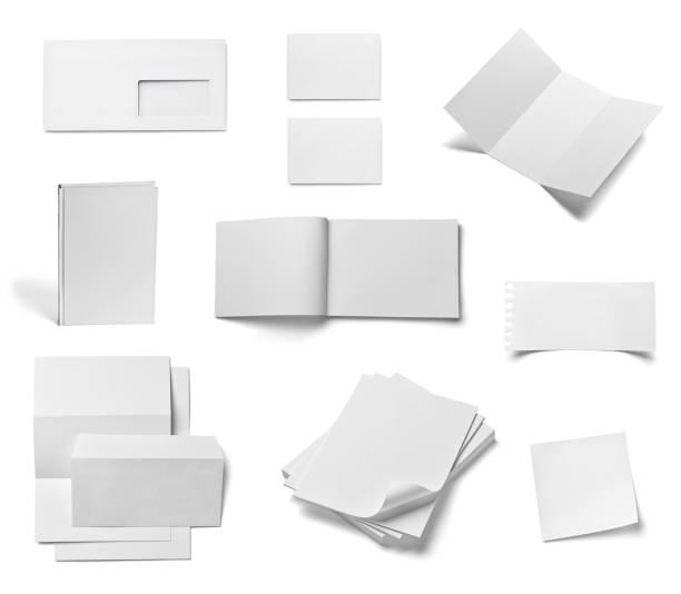 umschlag buch kartengeschäft broschüre vorlage - porzellan druck stock-fotos und bilder