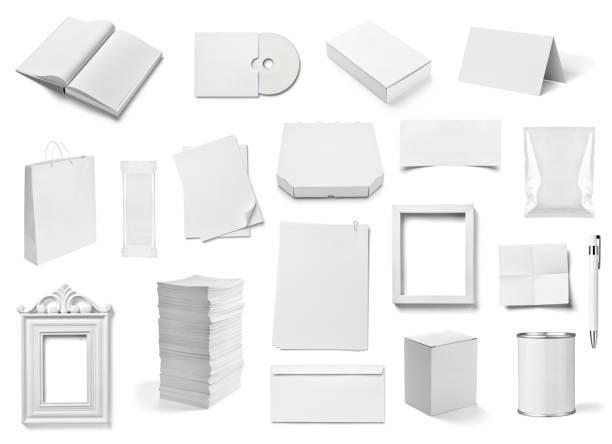 umschlag buch kartengeschäft broschüre vorlage - box falten stock-fotos und bilder