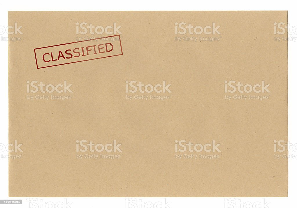 Envelope Classified royalty-free stock photo