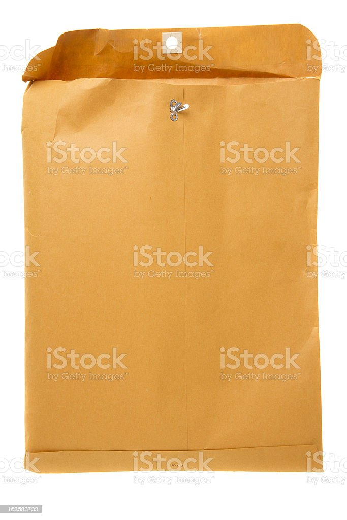 Envelope Filled with Printed Files royalty-free stock photo