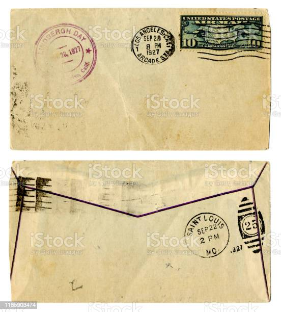 Envelope from Los Angeles to St Louis celebrating 'Lindbergh Day', 1927