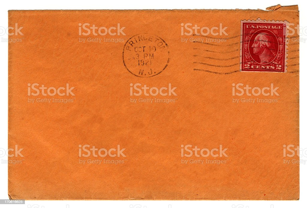 Envelope from Princeton stock photo