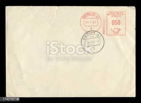 An envelope posted in West Berlin in July 1967. Please see my lightboxes for lots more.