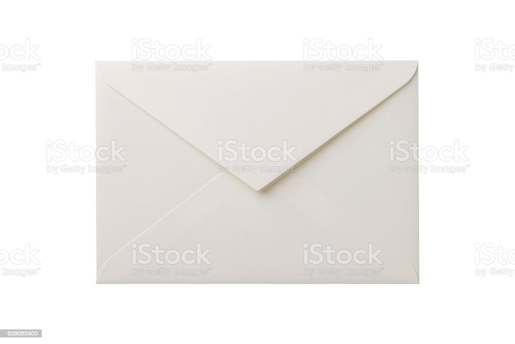 Envelope isolation on white background stock photo
