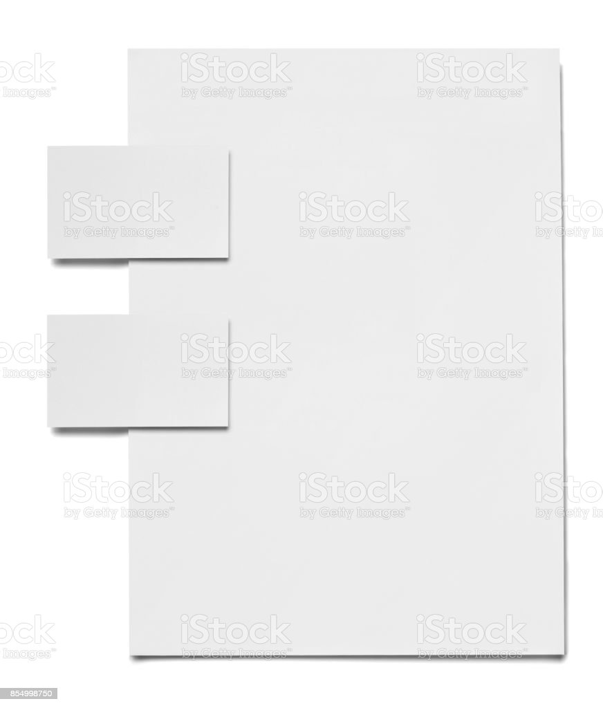 collection of various white business print templates on white...