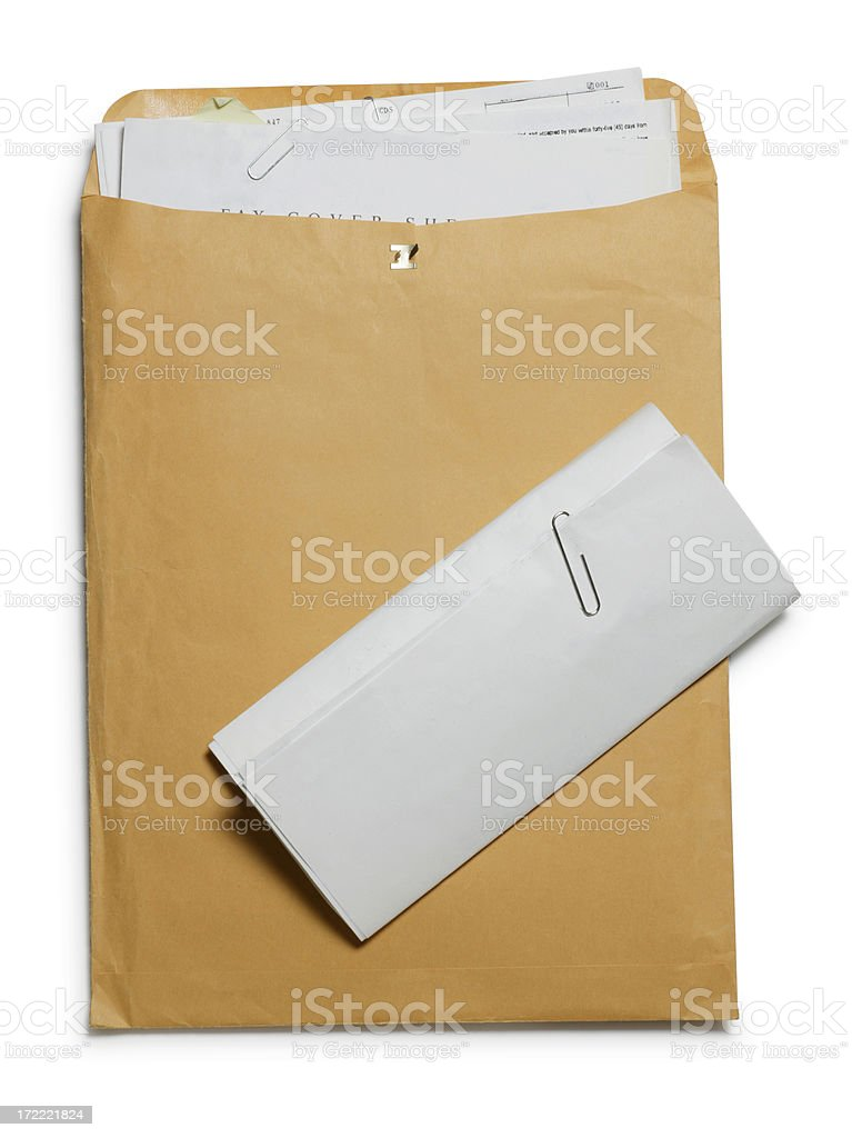 Envelope nd Form stock photo