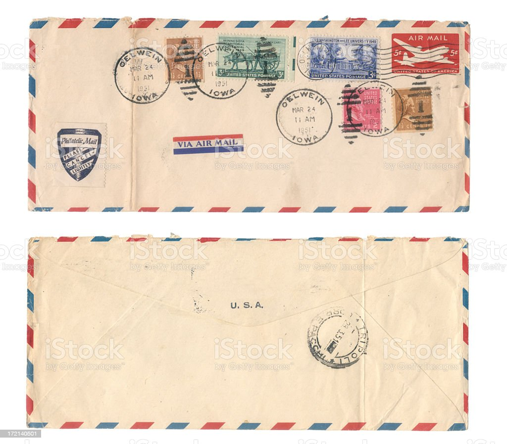 USA envelope royalty-free stock photo