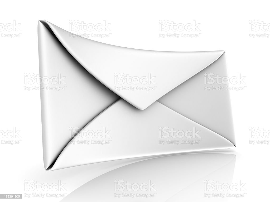 3D Envelope royalty-free stock photo