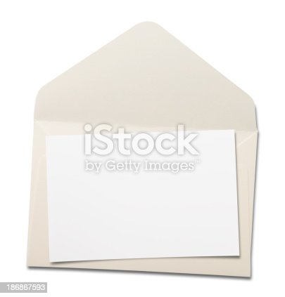 Envelope on white.