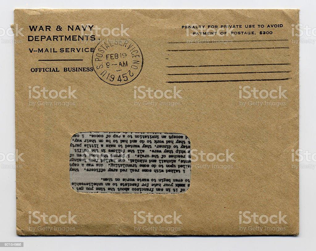 WWII Envelope. stock photo