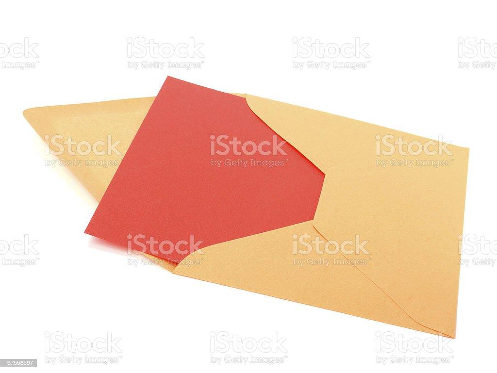 Enveloppe photo libre de droits