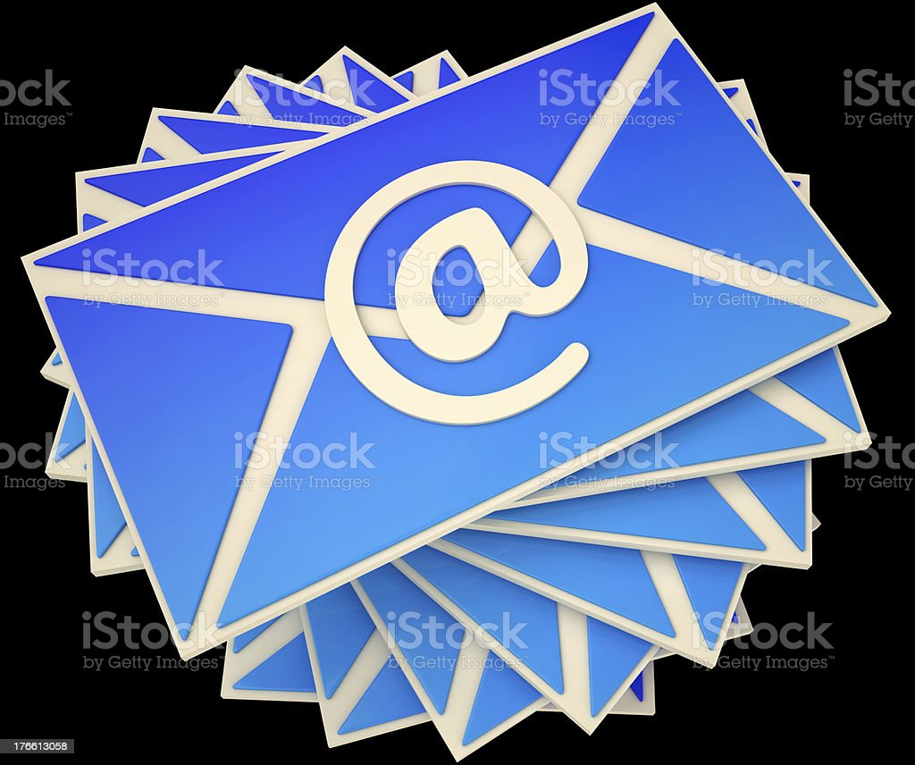 Envelope Shows E-mail Online To Communicate Information stock photo