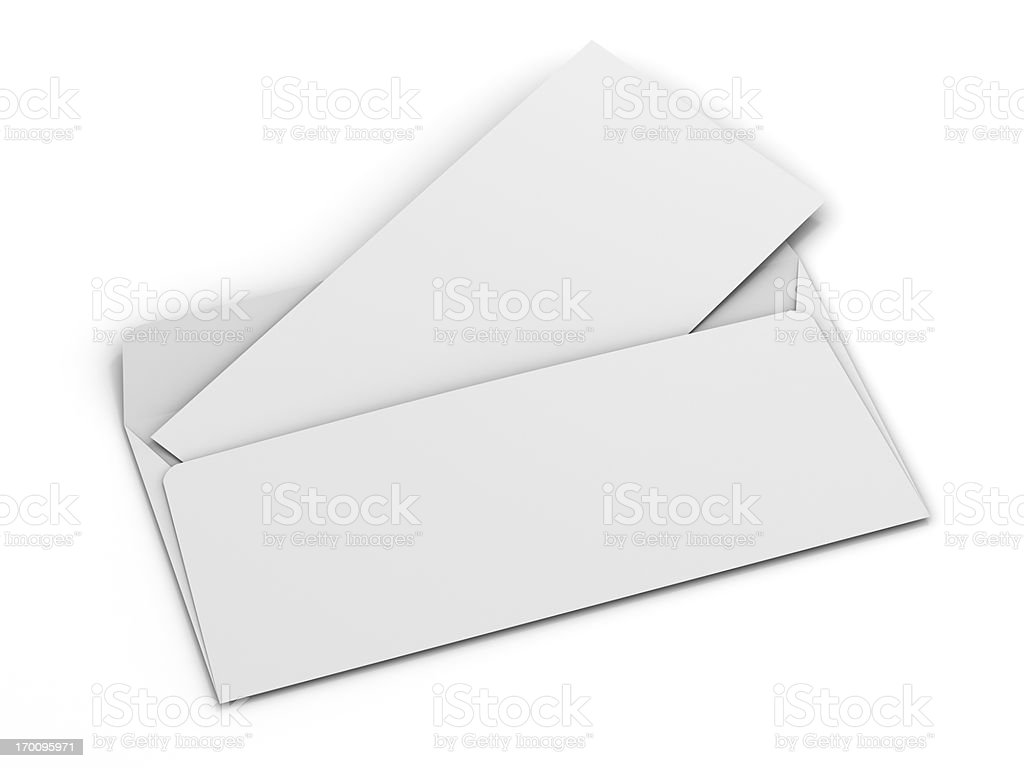 Envelope with blank card for your text stock photo