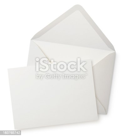 Envelope with blank note. Photography in high resolution. Please see some similar pictures from my portfolio: