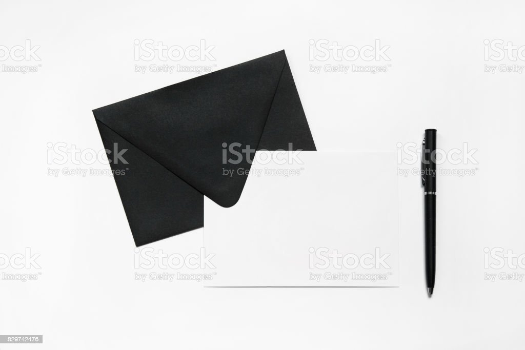 Envelope with card stock photo
