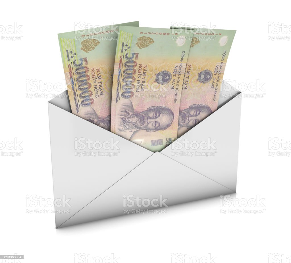 Envelope with Dongs stock photo