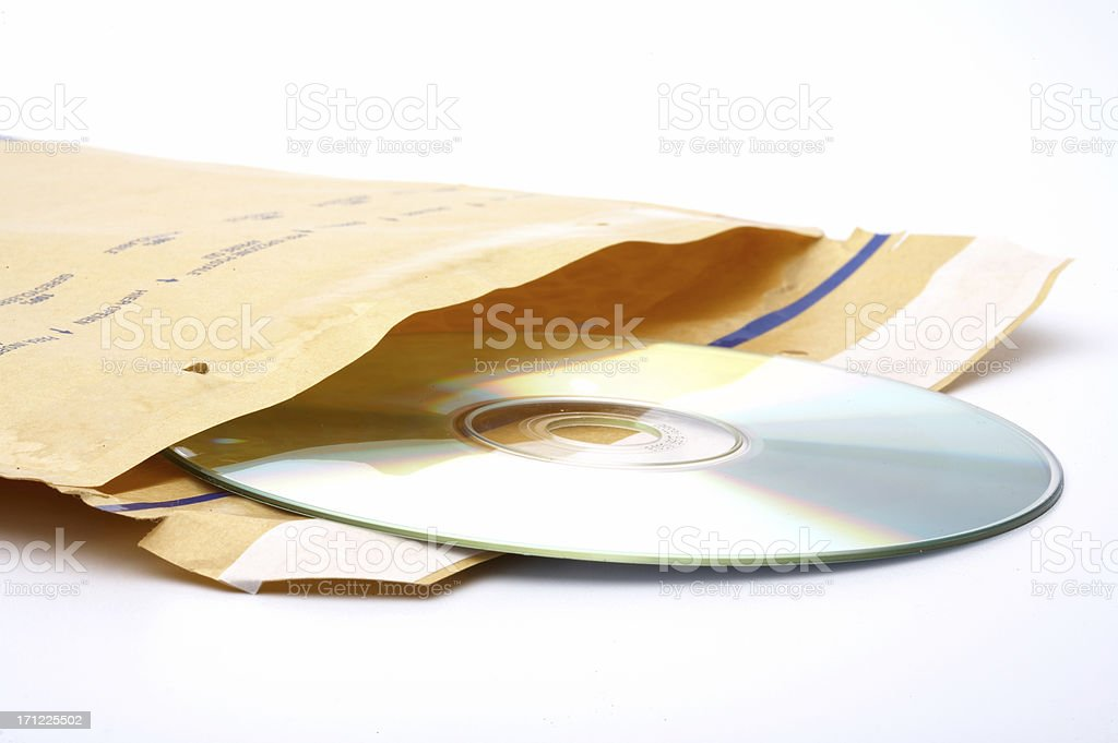 Envelope with DVD royalty-free stock photo
