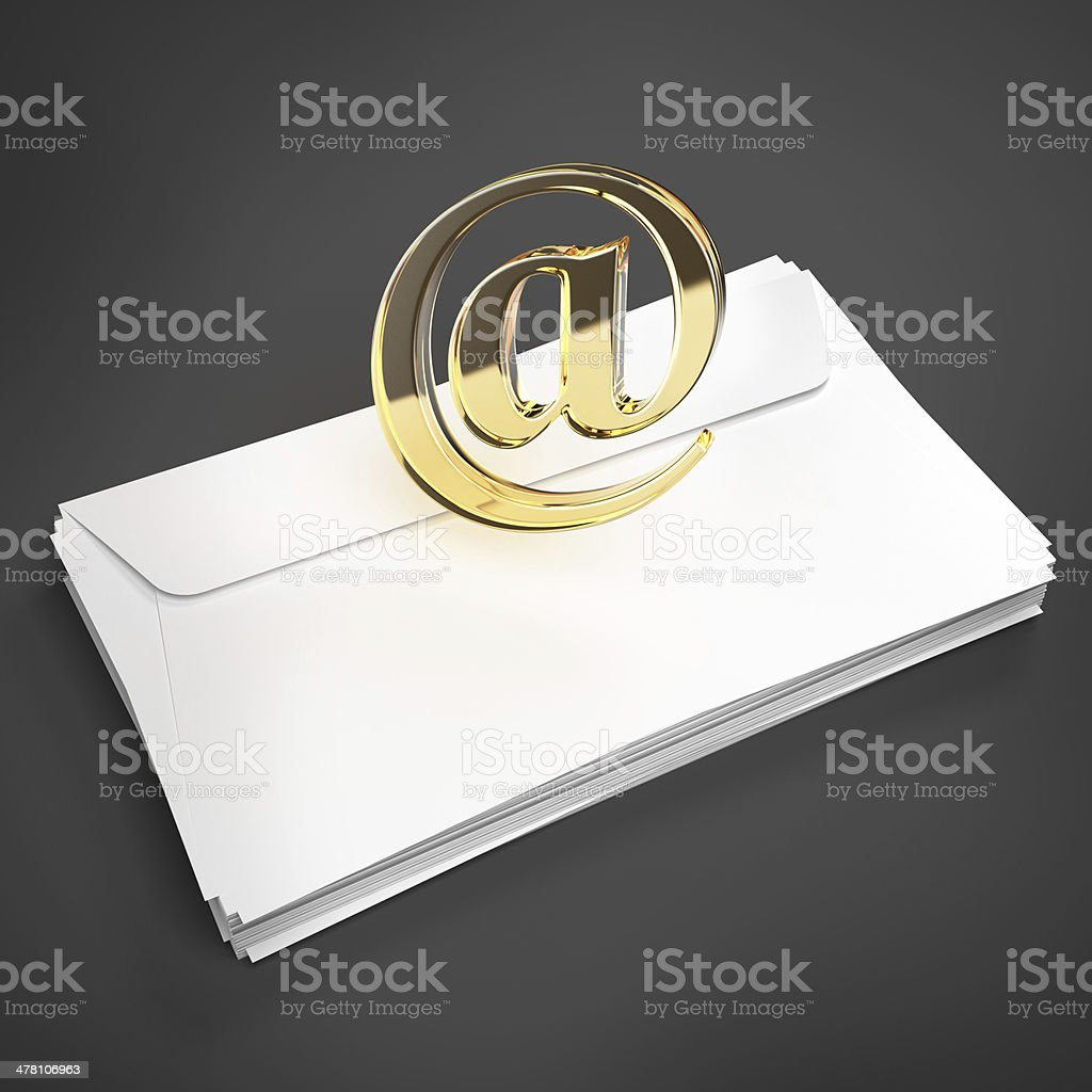 envelope with e-mail sign royalty-free stock photo