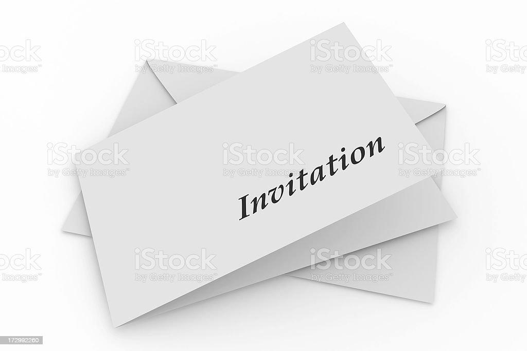 Envelope with invitation stock photo